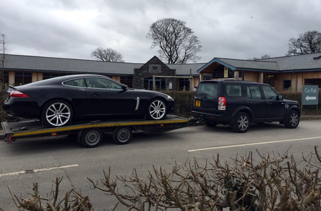 Jauguar XKR delivery North Wales