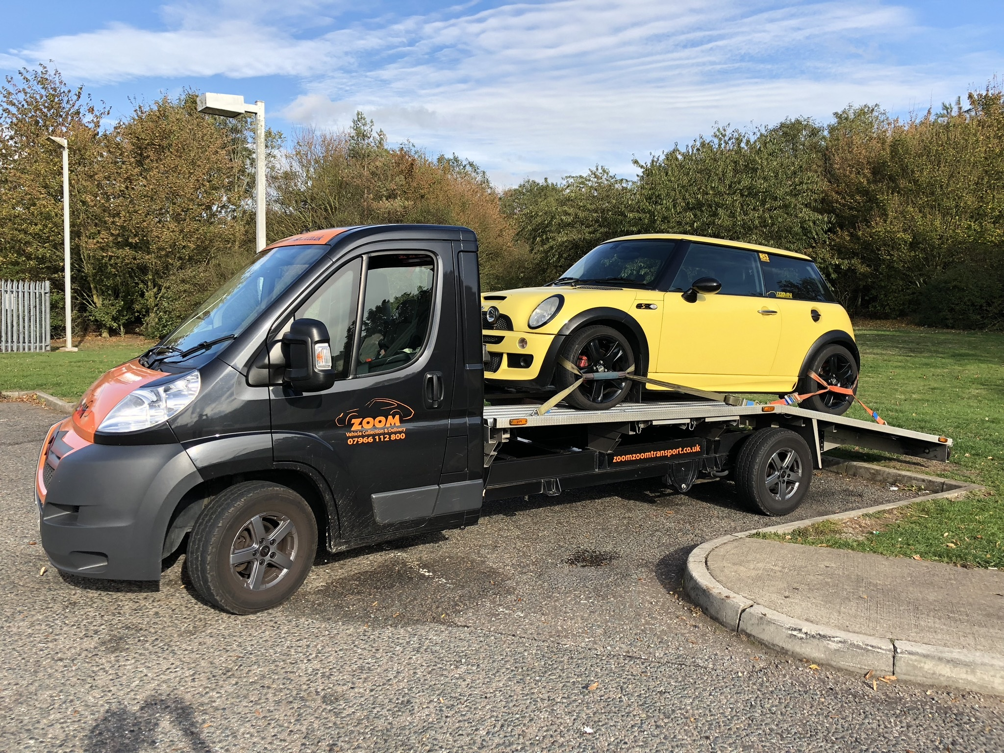 Collection and delivery of MINI Cooper in yellow