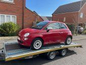 Fiat 500 House Move car transport