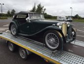 1947 MG TC imported to Imorex Felixstowe