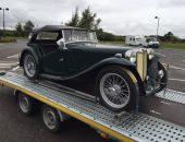 1947 MG TC imported to Imorex Felixstowe