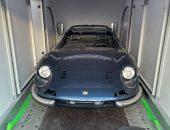 Ferrari Dino covered car transport