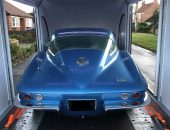 Corvette Stingray enclosed car delivery