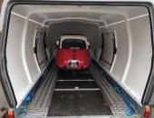 BMW Isetta covered car transport