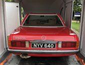 Mercedes SLK enclosed trailer transport