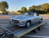 Classic car transport Mercedes 190 SL