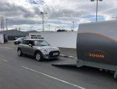 Covered car transport MINI Cooper JPG