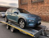 Hyundai KONA electric car transport