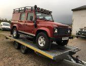 Land Rover Defender transport
