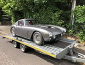 Transport of a modern classic sports car the Mira GT