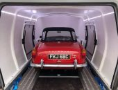 TR4 A classic car delivery