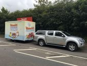 Towing Warburtons Promo Trailer