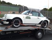 White Porsche 911 Targa delivered to Brighouse