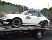 White Porsche 911 Targa delivered to Brighouse