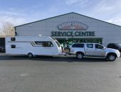 Caravan delivery to Glossop for servicing