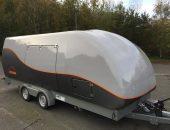 Enclosed car transport trailer