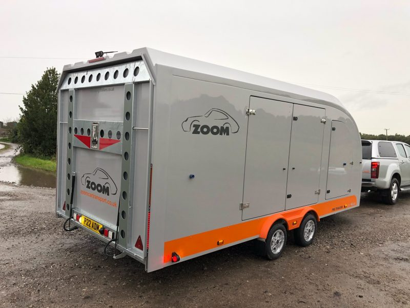 Zoom PRG enclosed car trailer