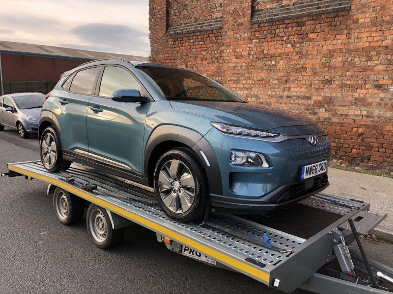 Hyundai KONA electric car transport