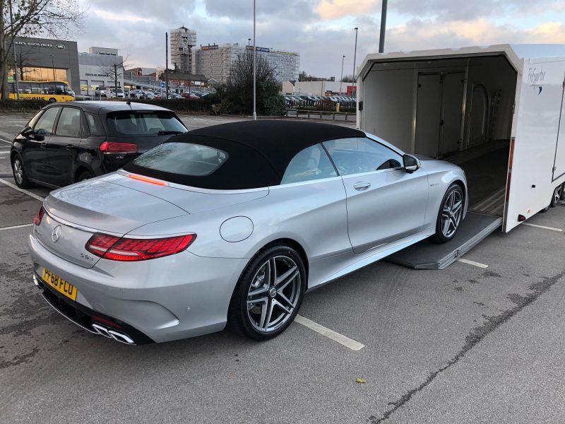 Mercedes-Benz enclosed car transport