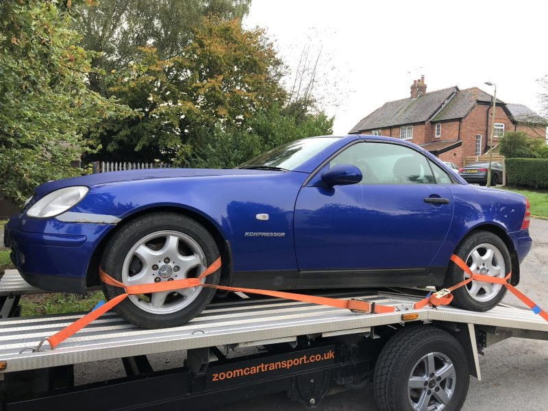 Mercedes SLK Delivery to Car Auction in Picking Yorkshire
