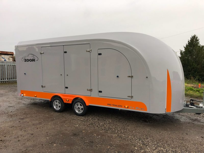 New Zoom enclosed trailer manufactured by PRG