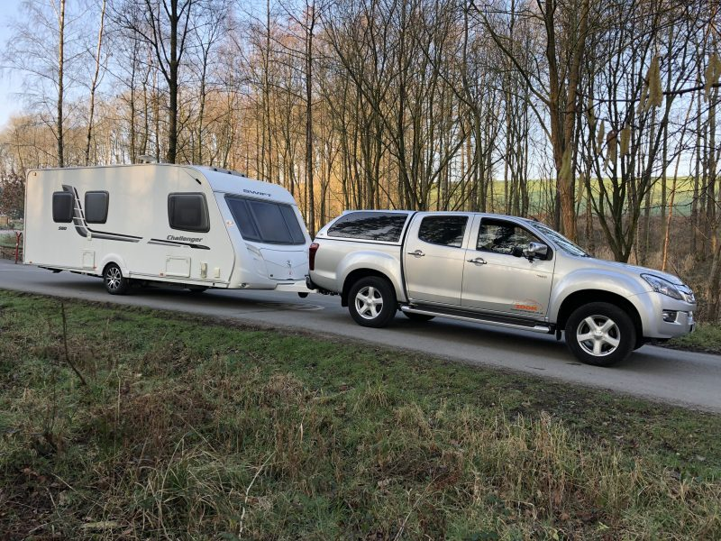 Touring Caravan delivery to repair centre JPG