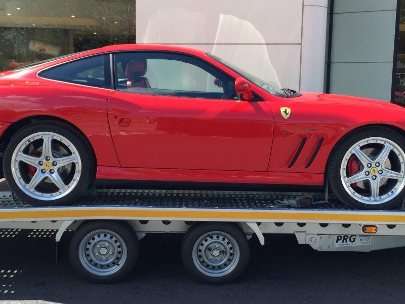 Ferrari super car transport