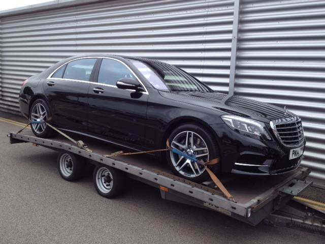 Mercedes S class delivery