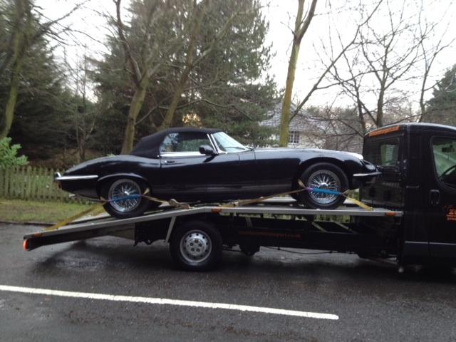 Classic car transport | Jaguar Etype Convertible