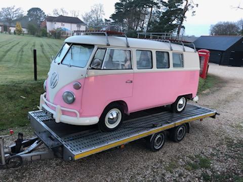 Vw t2 camper van in pink large