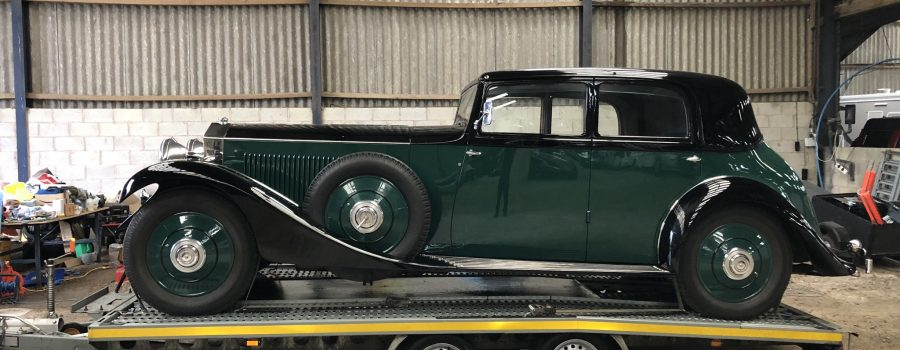 Classic car collection and delivery Rolls-Royce